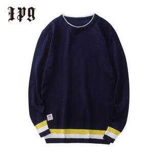IPG nouveaux hommes Pull en maille Pull Matching Vêtements pour hommes Couleur Tricots Pull style britannique Homme Hauts 201119