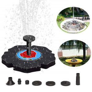 Hot Mini Solar Power Water Fountain Garden Pool Pond Outdoor Solar Panel Bird Bath Floating Water Fountain Pump Garden Decor