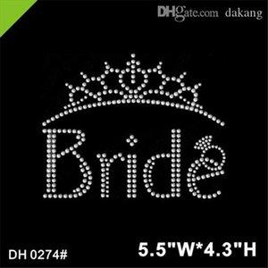 Freies Verschiffen Braut Kristall Strass Eisen auf Applique, Eisen auf Abziehbild DIY DH0274 #