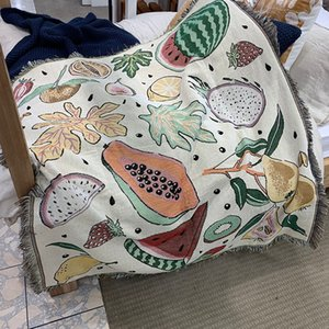 Fruits Thick Tapestry blanket Original design ins Nordic Throw Blanket Bedding Sheet Sofa Cover For Home decoration bedroom 201113