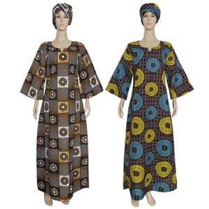 3XL 4XL PLUS Размер африканских платьев для женщин 2021 Дасики весенние платья женские традиционные Kanga Africa Одежда для одежды с шарфом