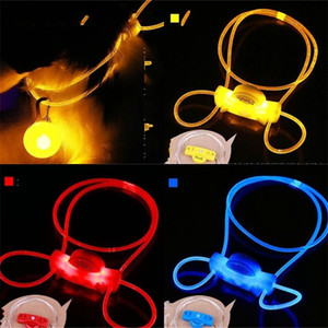 New Pattern Led Dog Collars Flash Of Light Hanging Rope Pet Accessories Night Travel Safety Multicolour Dogs Leash 2 3rz D2