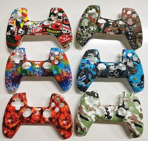 Kamuflaj Renkli Yumuşak Silikon Kılıf PS5 Oyun Denetleyicisi Playstation 5 Gamepad Koruyucu Kapak Ücretsiz Kargo