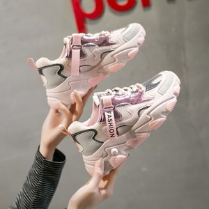 Women New Fashion Luminous Shoes Platform Lace Up Casual Shoes Woman Bling Designers Mesh Tennis Female Walking Trainers Chunky Sneaker