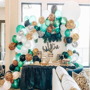 100pcs Jungle Decoration Kit Baby Shower Animal Balloons Arch Kids Birthday Balloon Zoo Themed Party