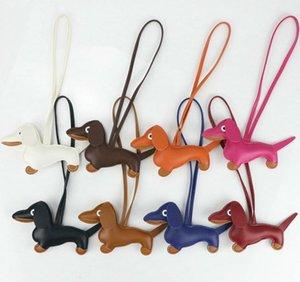 Щечки милые собаки PU кожаный брелок мода женская сумка подвеска аксессуары аксессуары ключ держатель цепь брелок для Chram