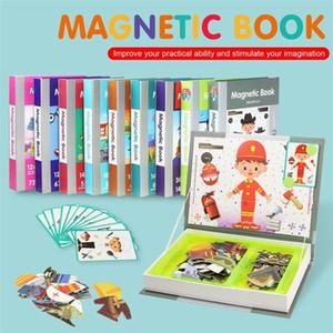 Coolplay Çocuk Akıllı Manyetik Kitap 3D Bulmacalar Yapboz Beyin Eğitim Oyunu Eğitici Oyuncaklar Çocuklar için Ücretsiz Hediye Noel Oyuncak 201218