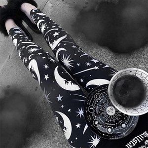 Liser New Fashion Women Parting Gothic Sexy Leggings Punk Style Daily Hight Waist Leggings 201126
