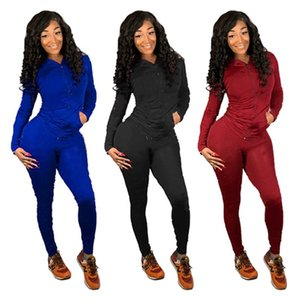 Champions Women 2 piece sets brand fall winter clothes fitness hoodies pants sportswear sweatshirt leggings outfits Cardigan bodysuits 0489