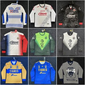Uzun Kollu 20 21 Tijuana Chivas Tigres Jersey 1998 Meksika Beyaz Retro Futbol Formaları Blanco Ramirez Hernandez Futbol Gömlek Maillot Futol