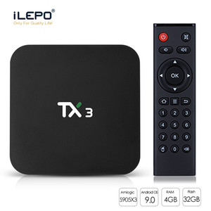 4 GB 64 GB TX3 Android 9.0 TV Kutusu Amlogic S905X3 32 GB Quad Core 2.4 g / 5GHz WiFi BT H.265 8K Media Player