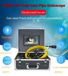 9inch DVR Recording 1080P HD Dual Camera Lens Drain Sewer Pipeline Industrial Endoscope Pipe Inspection Video Camera waterproof