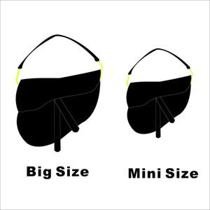 Meilleure version Designer Femme Saddle Sac à main Lettre Sac à bandoulière Haute Qualité En Cuir Véritable Messenger Mode Bandoulière Big Taille Mini Taille