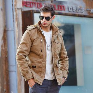 Automne hiver mâle manteau tactique veste veste vêtements hommes manteaux style armée coton de laine épaisse coton