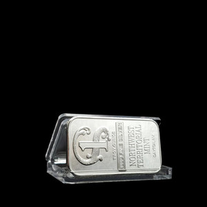 Rh Quality Silver Plated Metal Bar Northwest Territorial Mint Art Crafts Bullion Bar Silver Coin For Home Collection Souvenir F sqcLLy