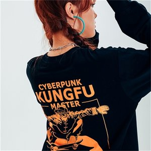 Stretag seritag 2020 new black long sleeve T-shirt women's loose fashion ins hot fashion brand couple