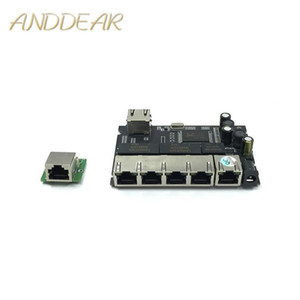 5-port Gigabit switch module is widely used in LED line 5 port 10 100 1000 m contact port mini switch module PCBA Motherboard