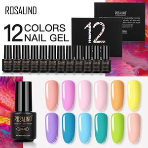 ROSALIND Gel Nail Polish 12pcs Manicure Set For Nails Art Kit UV Gel Semi Permanent Hybrid Varnishes Soak Off 7ml Nail Lacquer