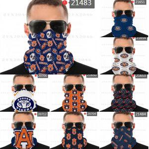 Schal NCAA Shield Auburn Face Tigers Nahtlose Bandana-Nacken-Gamer-Masken UV-Schutz für Motorrad-Radfahren Reiten LaufbandsXBDU