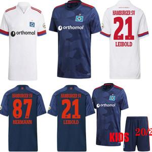 2020 2021 هامبورجر SV لكرة القدم الفانيلة المنزل الأبيض بعيدا الأزرق 20 21 hsv männer كيندر زي الرجال مجموعات الاطفال مجموعات قمصان كرة القدم زي 2XL