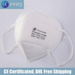 FFP2 CE Sertifikası Maskesi KN95 Tasarımcı Yüz Maskesi N95 Solunum Filtresi Anti-Fog Sis ve Grip Toz Geçirmez
