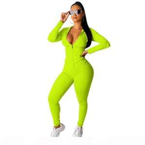 2020 New Two Piece Set Tracksuit Women Festival Clothing Fall Winter Top+Pant Sweat Suits Neon 2 Piece Outfits Matching Sets