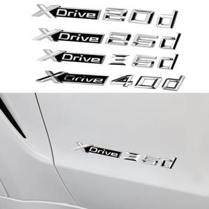 1-10pcs Xdrive 20d 25d 35d 40d 50d Badge Insignia Car Side Door Tail Sticker For BMW M3 M5 3 5 X series X3 X5 X6 X4 GT F30 E84