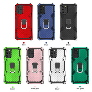 Finger Ring Stand Holder Anti-fall Case For Samsung Galaxy S20 Plus Note 20 Ultra A01 A41 A51 A71 A81 A91 Shockproof Armor Kickstand Cover