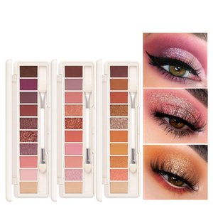 10 Shades Makeup Shimmer Eyeshadow Palette Smoky Cosmetics Professional Natural Eye Shadow Palette Glitter Mirror