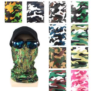 Écharpe de visage de magie respirable sans soudure Foulard en soie Cool Cool Camouflage Masque Masque Masque multifonctionnel Capuchon Capuchon CapeCarf VTKY2077