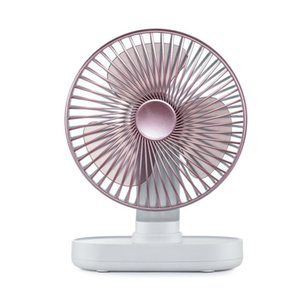 Desktop Oscillating Portable Fan With Adjustable Head 2 Speeds USB Rechargeable Desk Fans For Home Office Travel