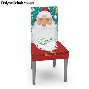 Christmas Table Cloth Chair Cover Decorate Individual Santa Claus Background Festival Party Decoration