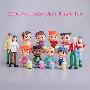 2021 Anime COPOMELON Figura Toy PVC Modelo Muñecas Cocomelón Juguetes Niños Bebé Regalo 12 unids / Set Regalo de Navidad