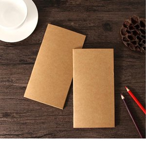 1pc lot Blank Kraft Sketchbook 110mmx210mm Traveler's Notebook Planner Memo Diary Notebook Standard Style Paper Book Pa bbyYTx