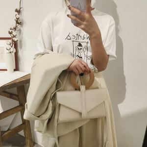 Fashion Luxury Designer Top Handle Envelope Handbag Ring Pu Leather Women Shoulder Messenger Bag Geometric Evening Clutch Purse