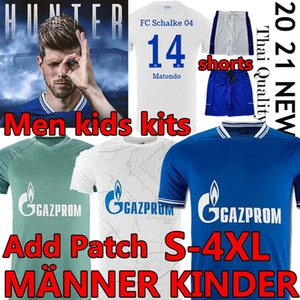 Huntelaar Schalke 04 Футбол Джерси 2020 2021 Кутуку Bentaleb Raman Hoppe Harit Serdar FC Schalke Джьи Джьи Мужчины Футбольная Рубашка Шорты Размер 4XL