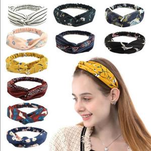 Floral Printed Hair Band Cross Sports Elastic Turban Chiffon Stretchy Girls Hairband Bandanas Fashion Hair Accessories 280 Designs