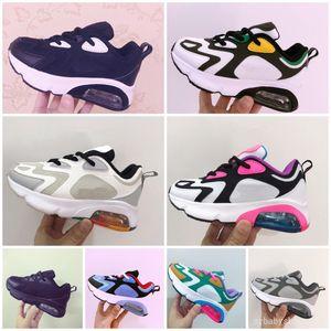 200 2019 crianças Athletic Shoes Crianças tênis de basquete lobo cinzento criança sneakers para Boy Girl tamanho da criança do bebê 28-35
