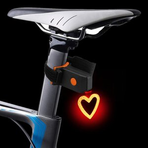 Rechargeable LED Bike Bicycle Cycling Front Rear Tail Light Headlight Lamp for Strobe Warning lamp night riding safety Heart