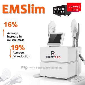 Yeni EMS Ince HIFEM Elektromanyetik Kas Bina Yağ Yakma Makinesi TesLasculpt Yüksek Yoğunluklu Odaklı Elektromanyetik EMSculpt Cihazı