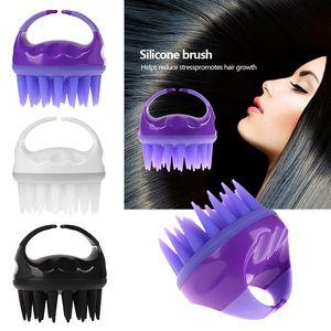 Hair Brush Silicone Hair Scalp Shampoo Massage Brush Shower Head Massager Hair Scrubber for Dandruff Upgrade Version