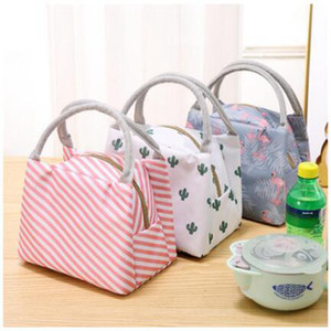 Waterproof lunch bags tote portable lunch box bag kitchen zipper storage bags for outdoor travel picnic thermal bag carry bags FFB3637