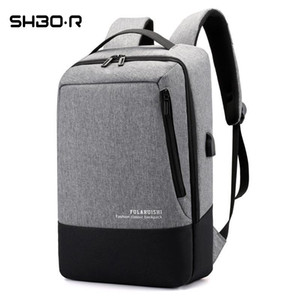 Mens Designer Bags USB charger computer bag large capacity Oxford leisure BackpackEWR9