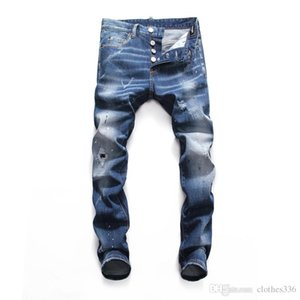 2020 Son Liste Erkekler Tasarımcı Kot Erkekler Için Yırtık Delikler Jeans Motosiklet Biker Denim Pantolon Erkekler Marka Mens Skinny Jeans Tasarımcı Pantolon
