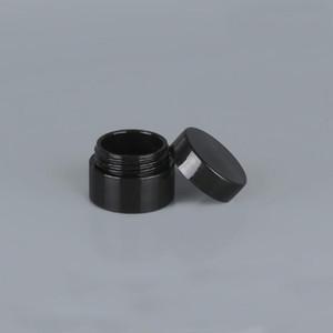 Черный Empty 5 грам 5ML Пластиковые горшок баночки Cosmetic Образец пустой контейнер завинчивающейся крышкой, для макияжа глаз Тени ногтей Порошковая GWD3053