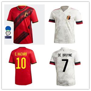 2020 21 Belgium Home away Soccer Jerseys 2020 2021 LUKAKU HAZARD KOMPANY DE BRUYNE MERTENS DEMBELE BATSHUAYI football shirt