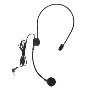 3,5 milímetros Wired Microfone Cabeça Wear Guia Condensador Mic Para Altifalante Tour Guide A9LC
