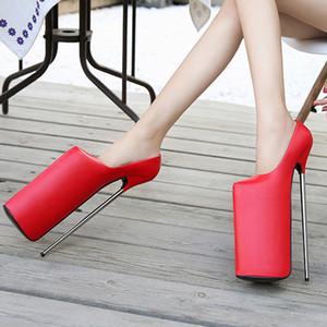 Gran tamaño 14 16 mujeres zapatos bombas drag reina cd super alto tacón alto 30 cm stilettos impermeable plataforma modelo t show femenino