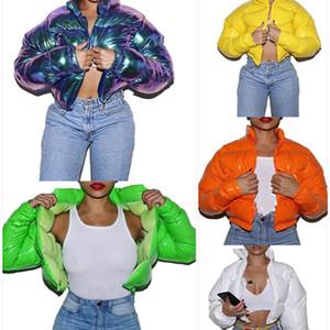 Femmes Down Parkas Épaissir Vêtements d'hiver Hiver Sexy Club Sexy Coton-rembourré Cardigan Colure solide Couleur Vêtements de dessus Vêtements de ventes chaudes 0751