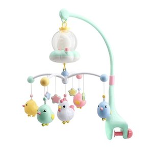 0-12 month Music Rotate baby rattles & Mobiles with remote control Teether rattle pendant Projection early education sensory toy Q1121